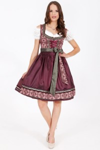 Dirndl DARK BERRY 60 bordowy